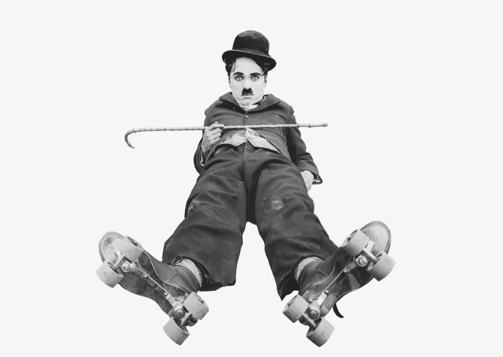 "Chaplin in ""The Rink"" (1916)."