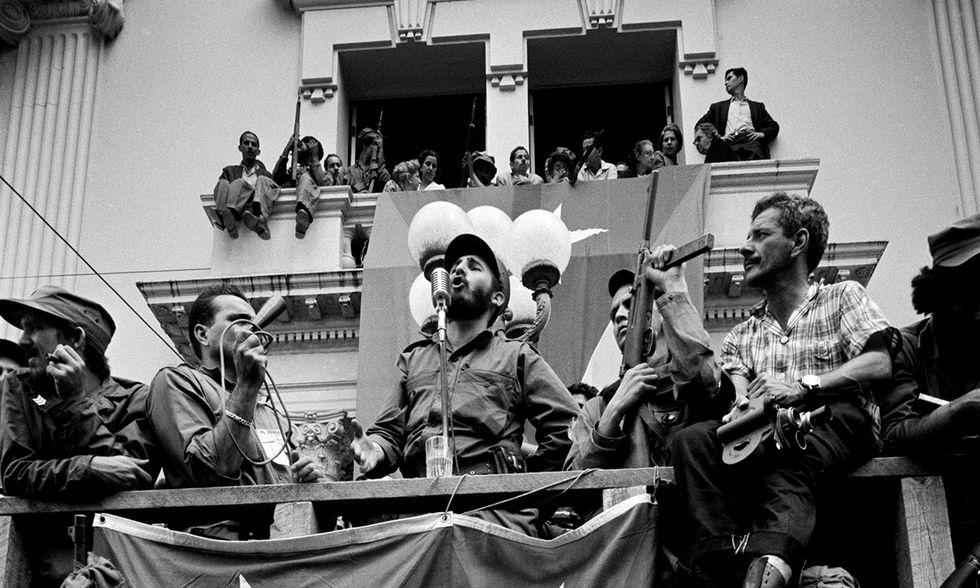 Fidel Castro parla a Santa Clara