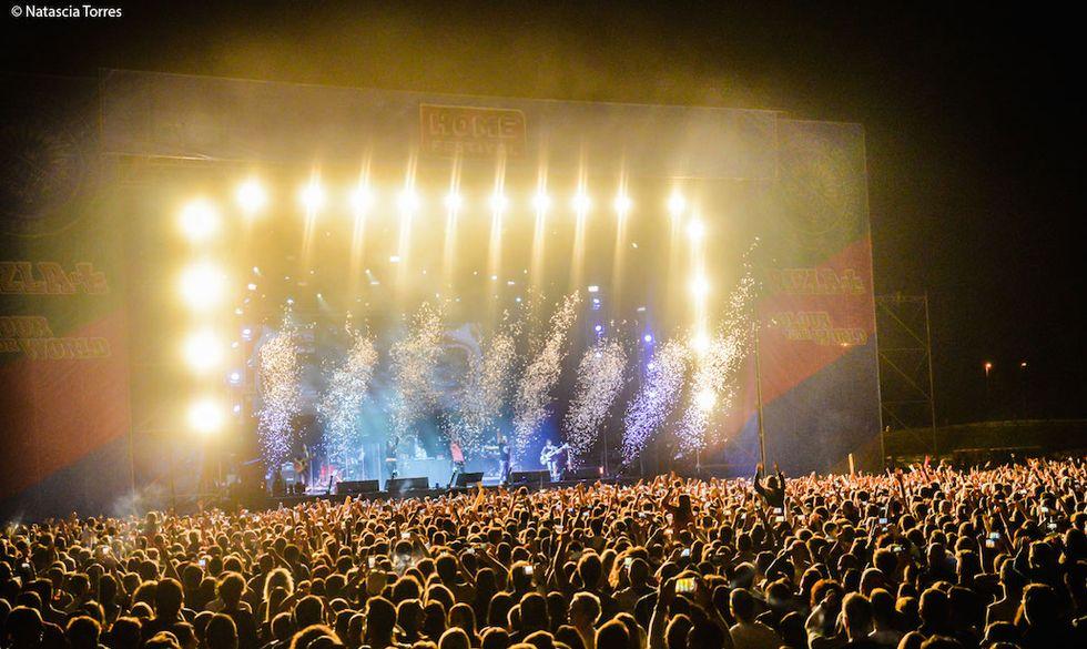 Fedez live all'Home Festival nel 2015