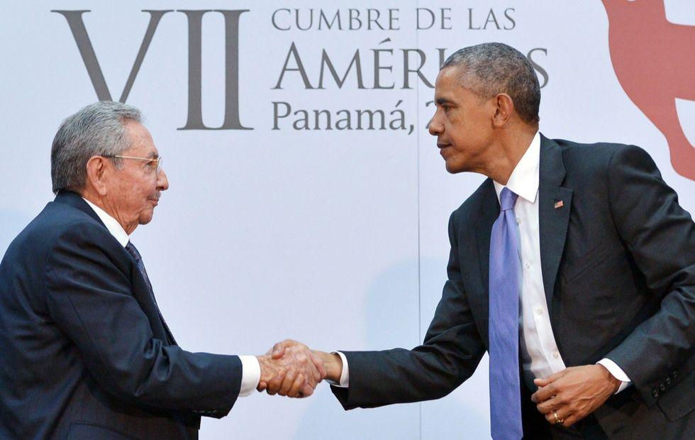 Obama e Castro a Panama