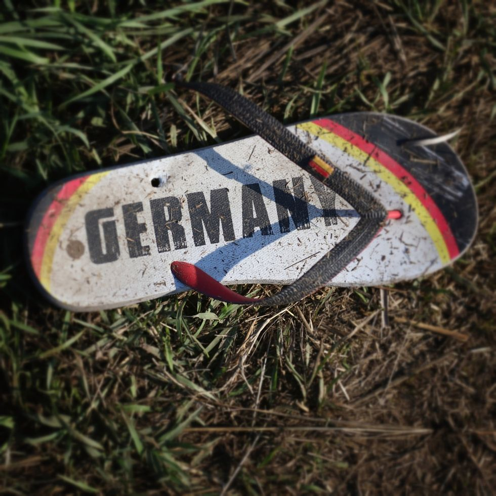 Discarded Items Of The Migrant's Journey Scattered Across The Hungarian Border