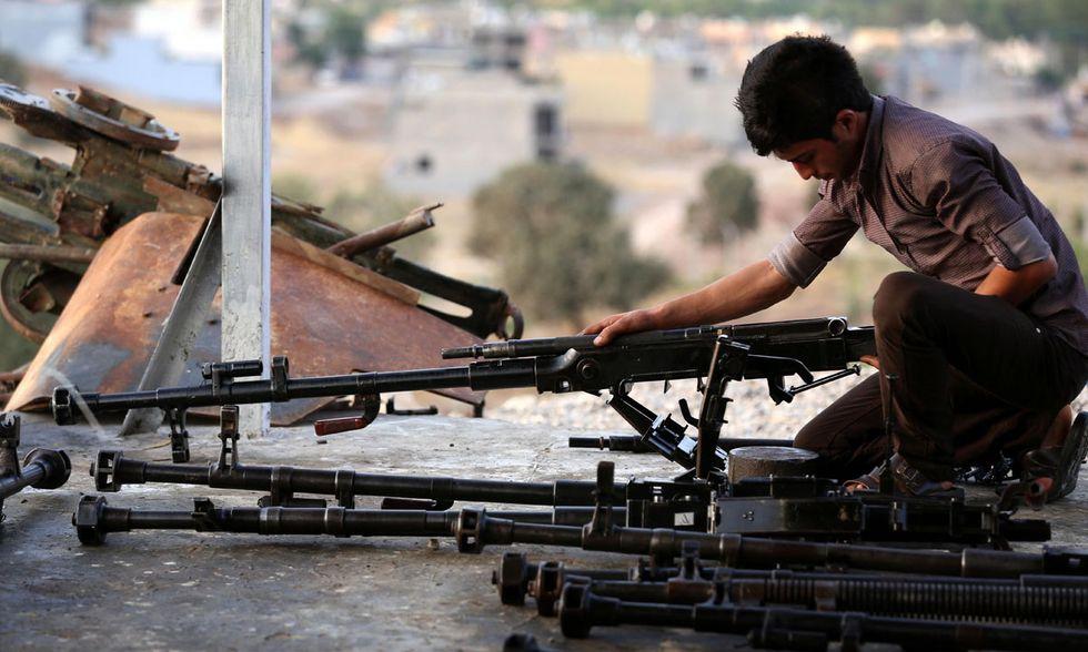 Le armi dei Peshmerga curdi in Iraq