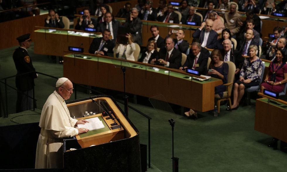 Papa Francesco all'ONU
