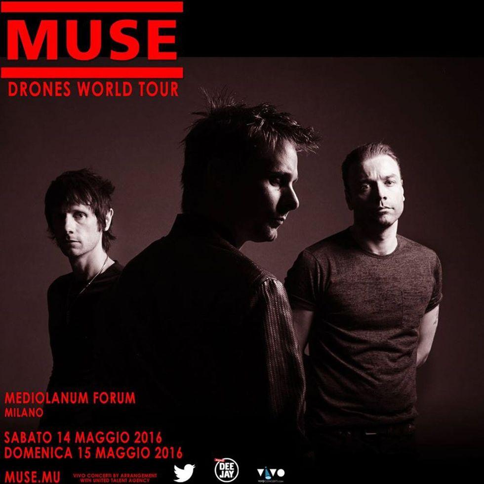 Muse a Milano: aggiunta una quinta data il 20 maggio