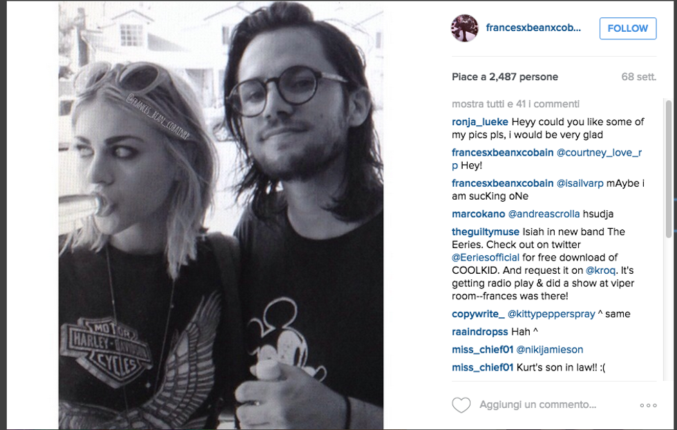 Frances Bean Cobain con neo marito Isaiah Silva
