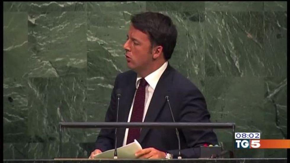 "Renzi all'Onu: ""L'Italia protagonista in Libia"""