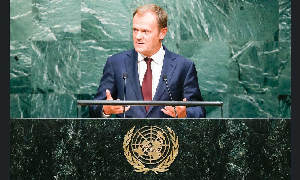 Donald Tusk all'ONU