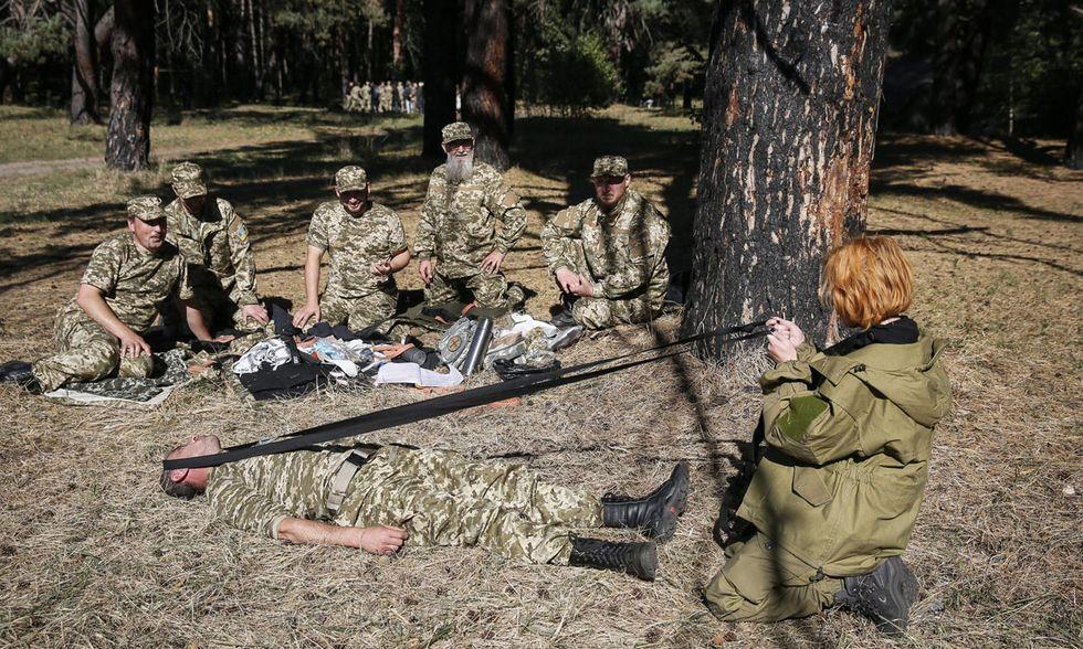 Lezioni di medicina d'emergenza in Ucraina