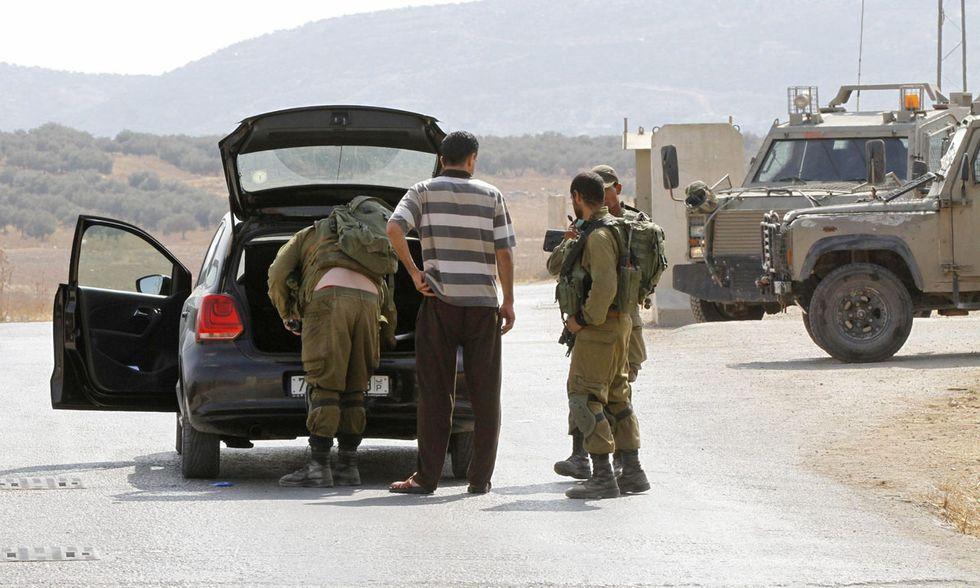 Cisgiordania, controlli al checkpoint