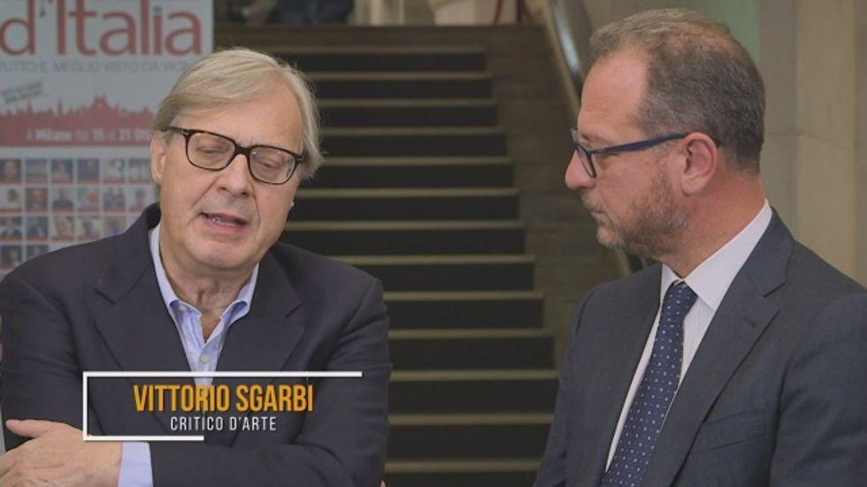Vittorio Sgarbi e Giorgio Mulè