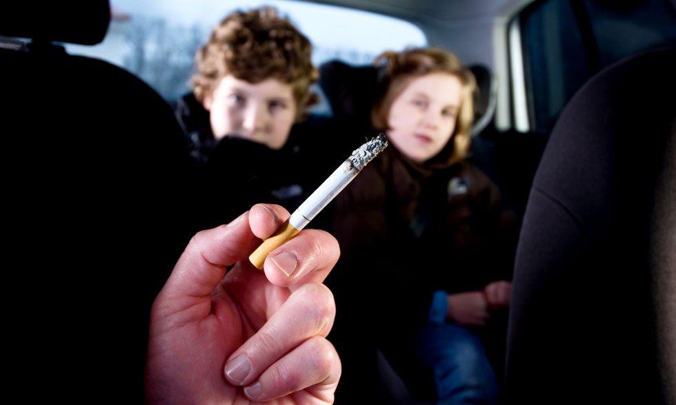 Fumo passivo in auto