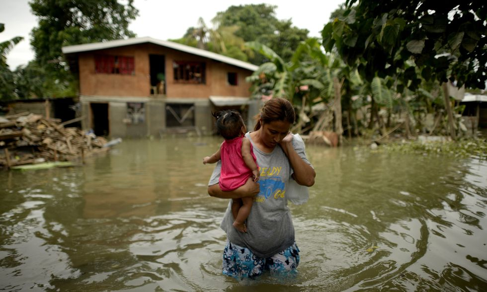 Il tifone Koppu sulle Filippine