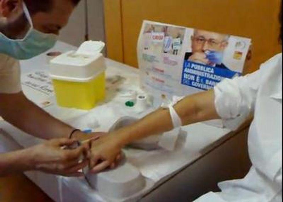infermiera sangue ospedale