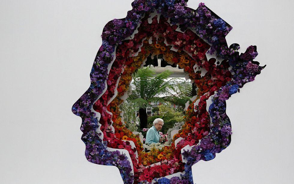 La Regina Elisabetta al Chelsea Flower Show