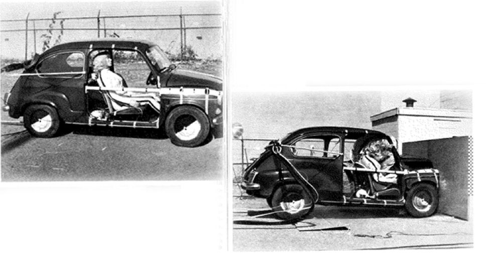"""1968: a Torino scoppia il """"cuscino all'azoto"""", il test sul primo airbag"""