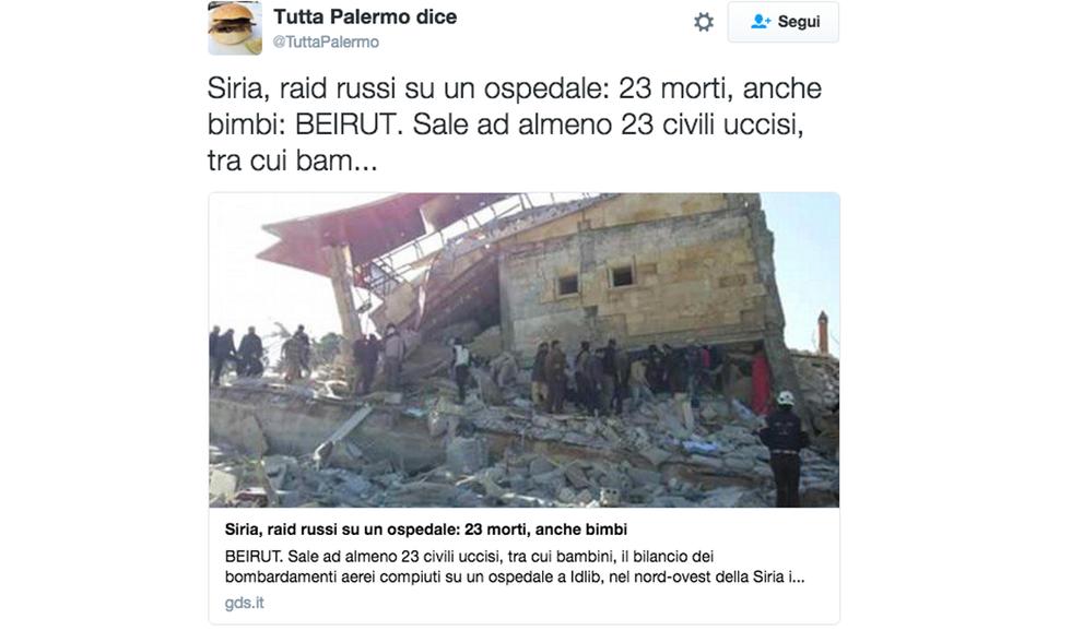Siria, raid russi sull'ospedale. Ma Mosca respinge le accuse