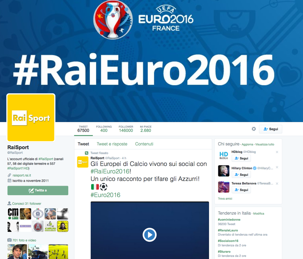 Per gli Europei di calcio la Rai si tuffa  su Snapchat
