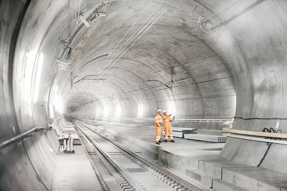 San Gottardo: viaggio nel tunnel ferroviario più lungo del mondo - Foto
