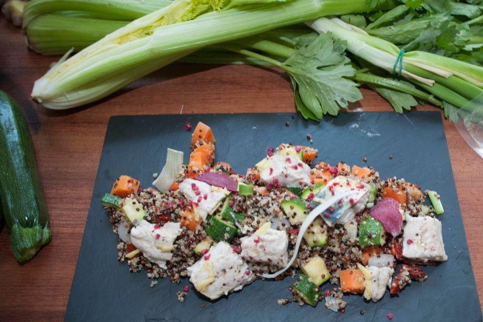 L'insalata di quinoa di @AstroSamantha: la ricetta di Stefano Polato - FOTO e VIDEO