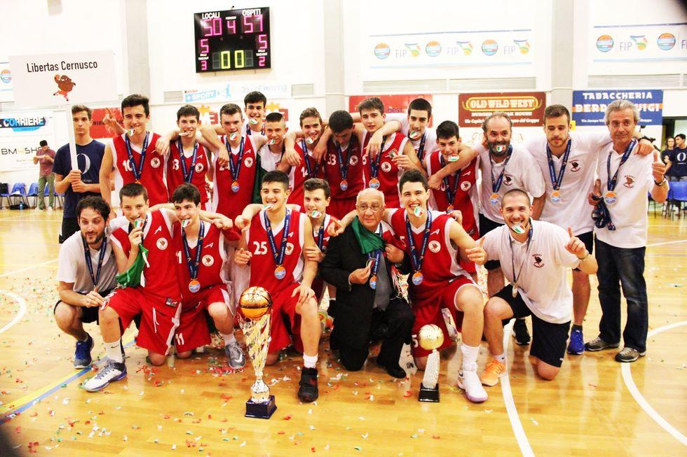 Basket giovanile: Libertas Cernusco, una Cenerentola campione d'Italia