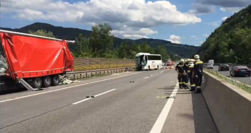 Austria incidente a un pullman di pellegrini: 46 italiani feriti