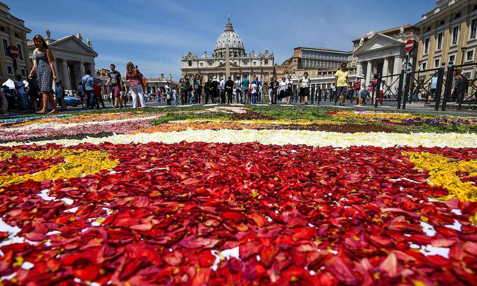 Infiorata storica Roma 2016