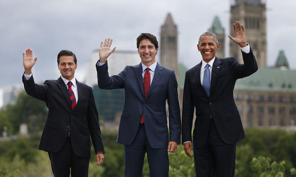 Peña Nieto, Trudeau e Obama