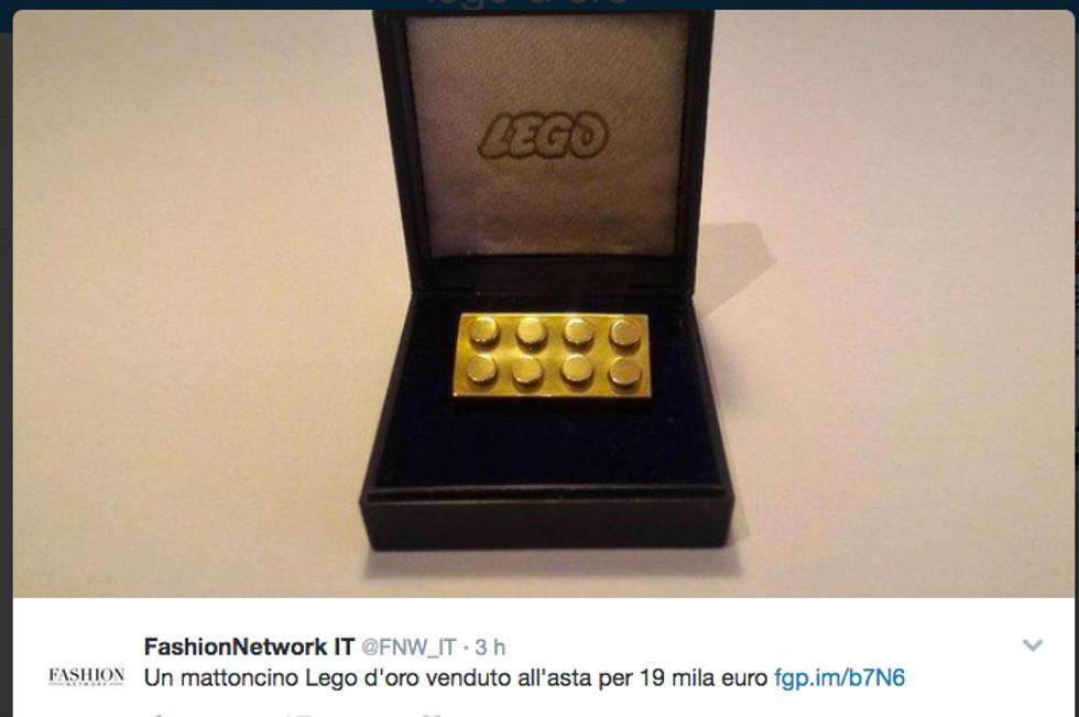 Asta record per il mattoncino d'oro
