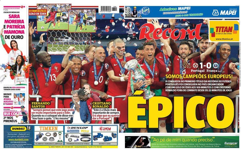 Euro 2016, il trionfo del Portogallo sui giornali del mondo