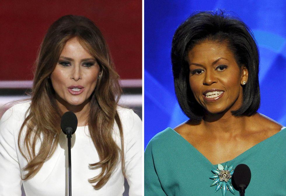 """Usa 2016: il discorso di Melania """"plagia"""" quello di Michelle"""