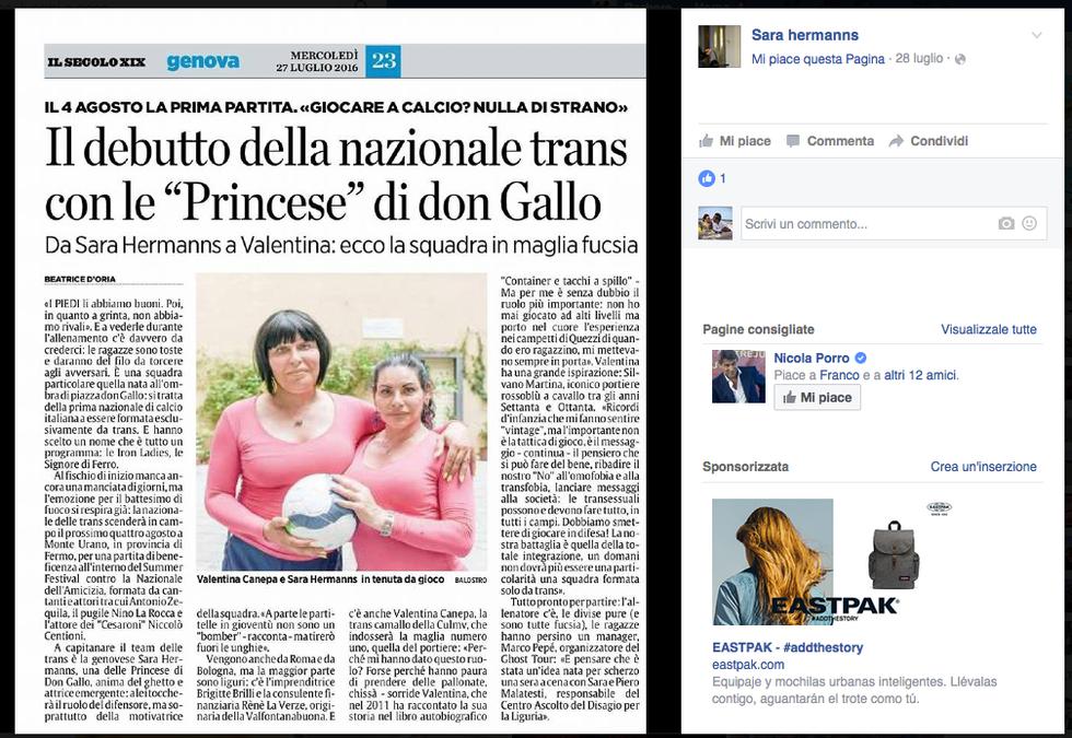 La prima nazionale trans a Genova