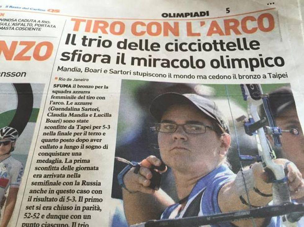 cicciottelle tiro arco sartori olimpiadi