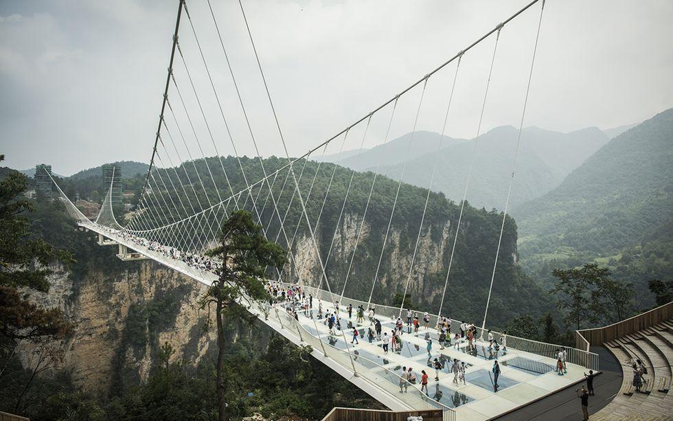 Cina, ponte di cristallo