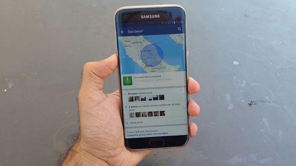facebook safety check italia agosto 2016