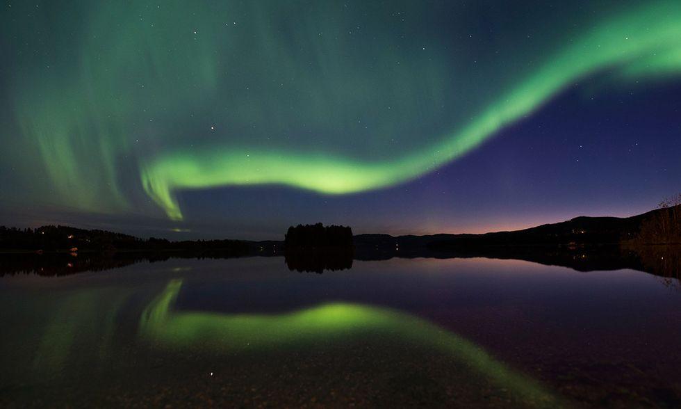 L'Aurora boreale nel cielo di Svezia