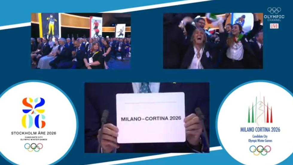 olimpiadi 2026 milano cortina assegnate