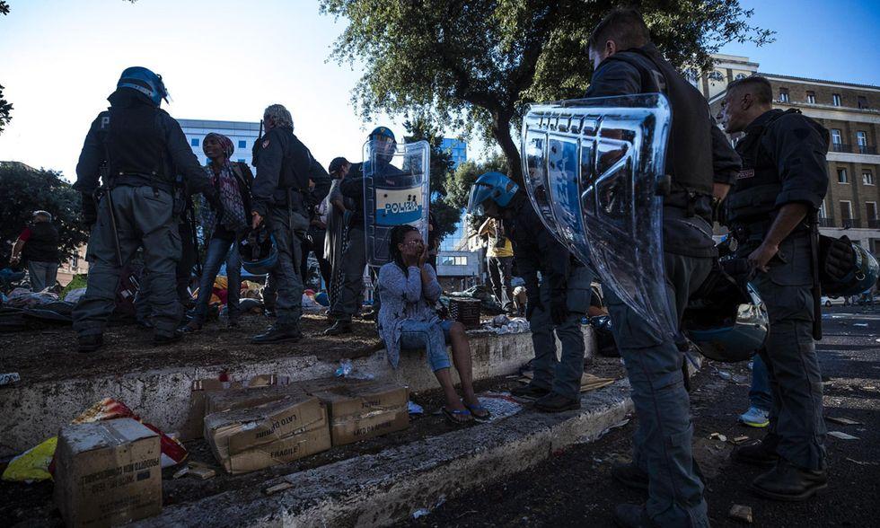 Migranti sgomberati a Roma