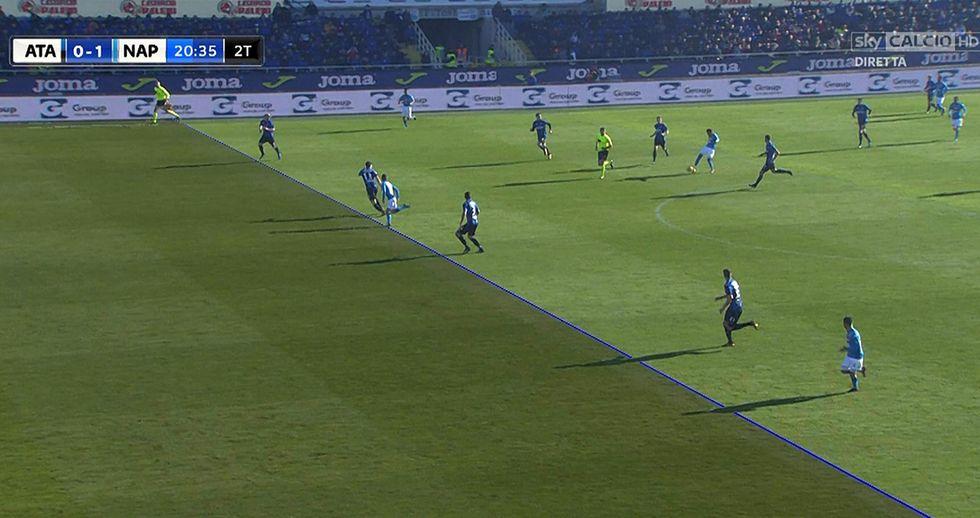 Var Atalanta Napoli polemiche fuorigioco Mertens Var
