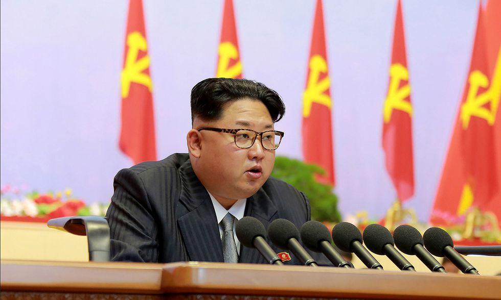 Kim Jong-Un al congresso del partito dei lavoratori