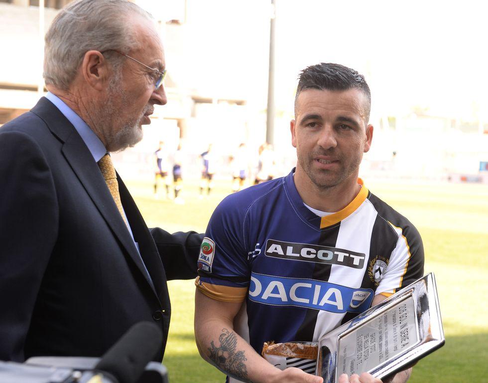 Udine saluta la sua leggenda: Di Natale gioca l'ultima partita in carriera