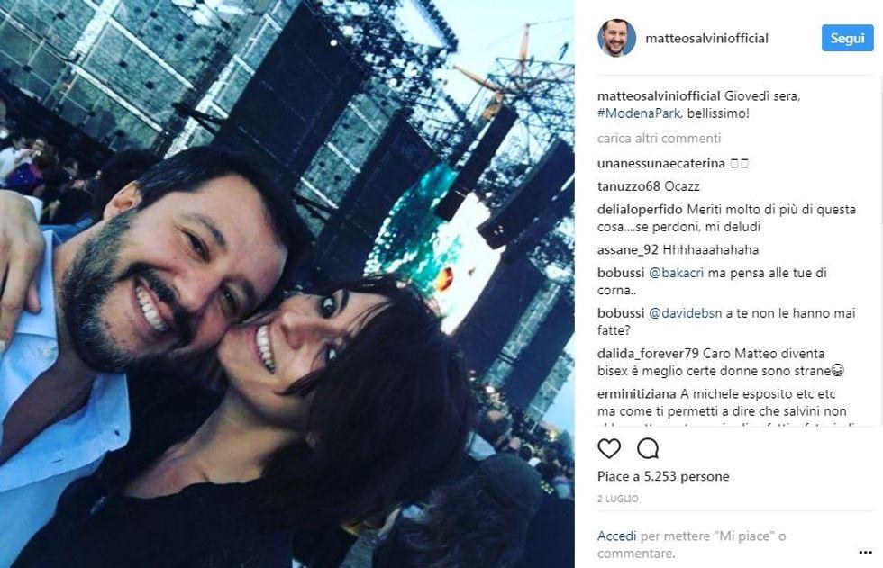 Matteo Salvini-Elisa Isoardi