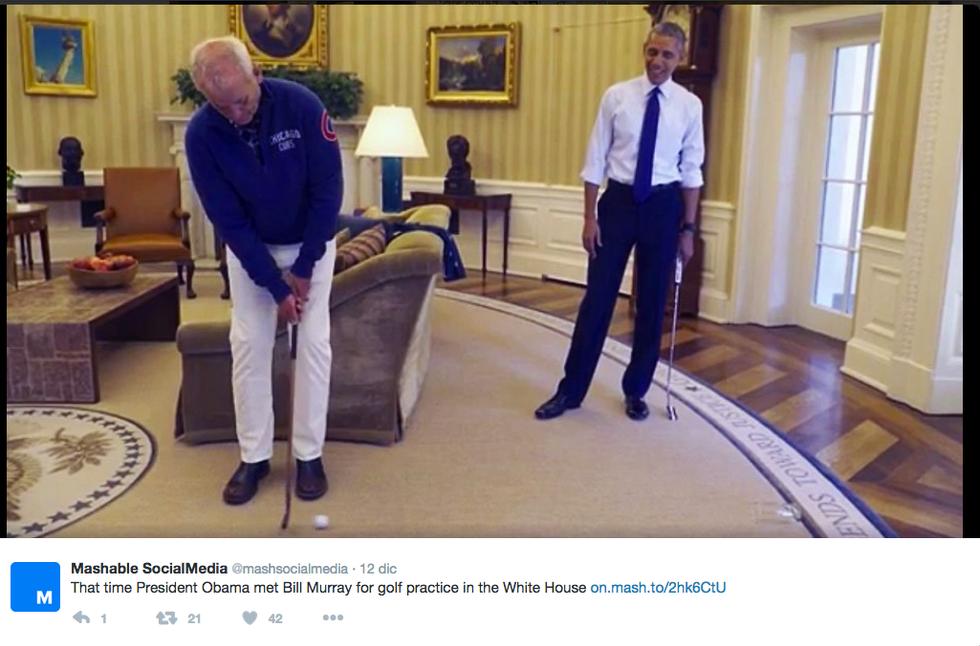 Barack Obama e Bill Murray