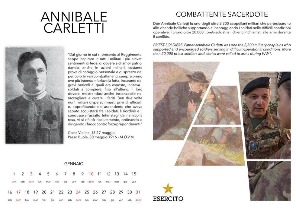 """""""CalendEsercito"""" 2016, dedicato agli Italiani nella prima guerra  mondiale"""