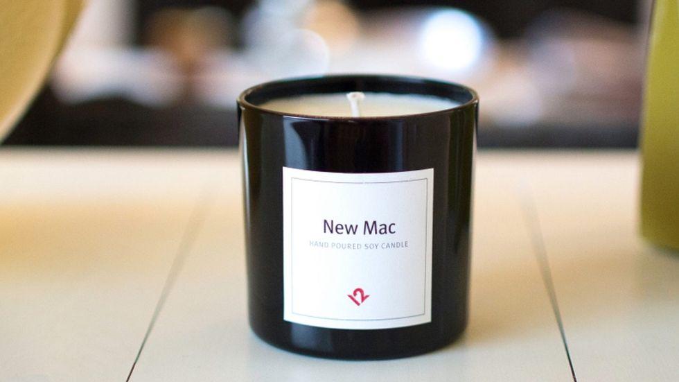 Ecco la candela che profuma di Mac (no, non è uno scherzo)