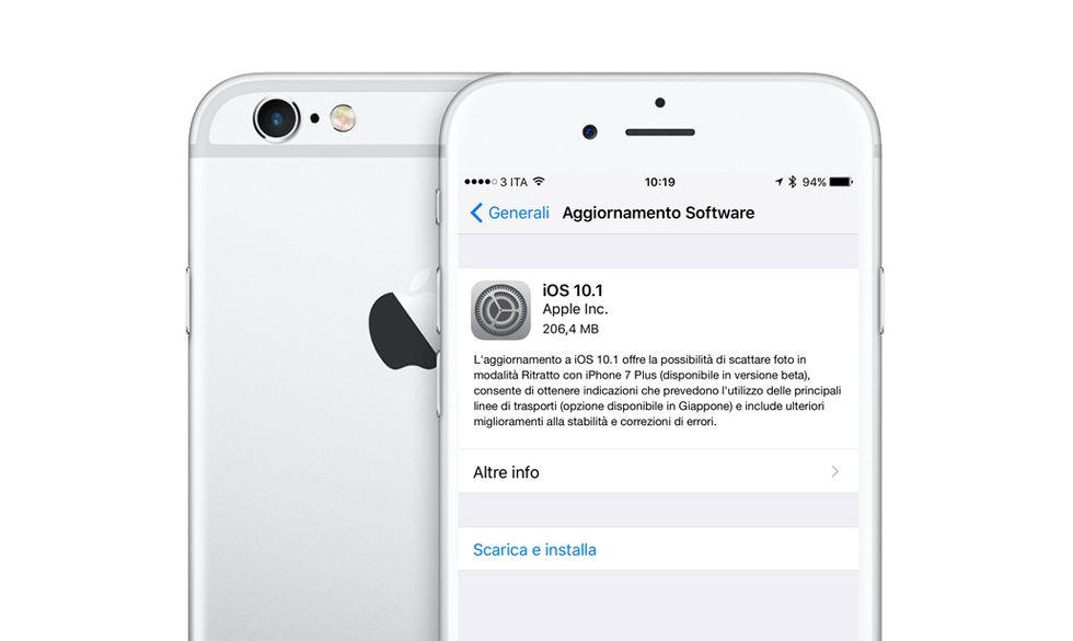 Apple iOS 10.1: perché scaricare l'aggiornamento