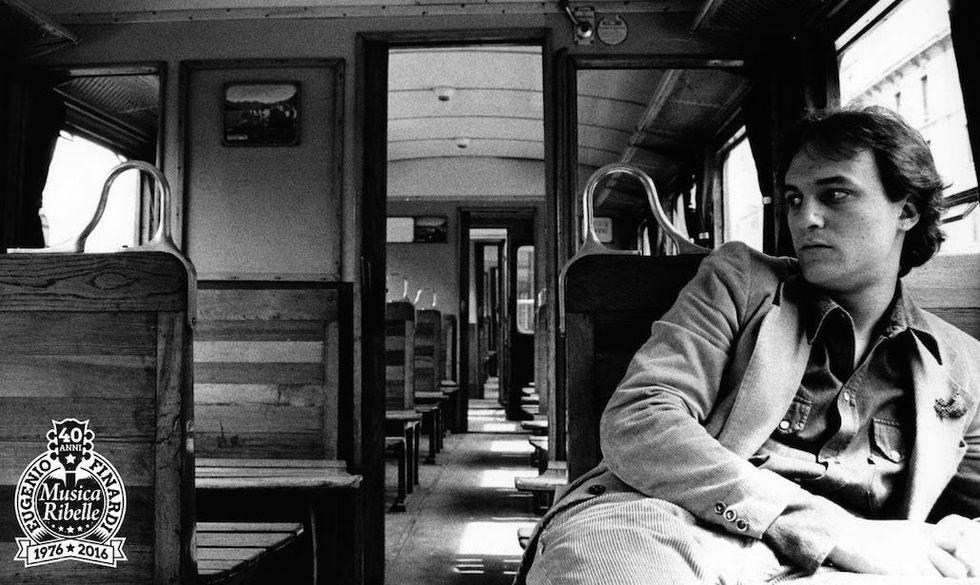Una fotografia storica di Eugenio Finardi