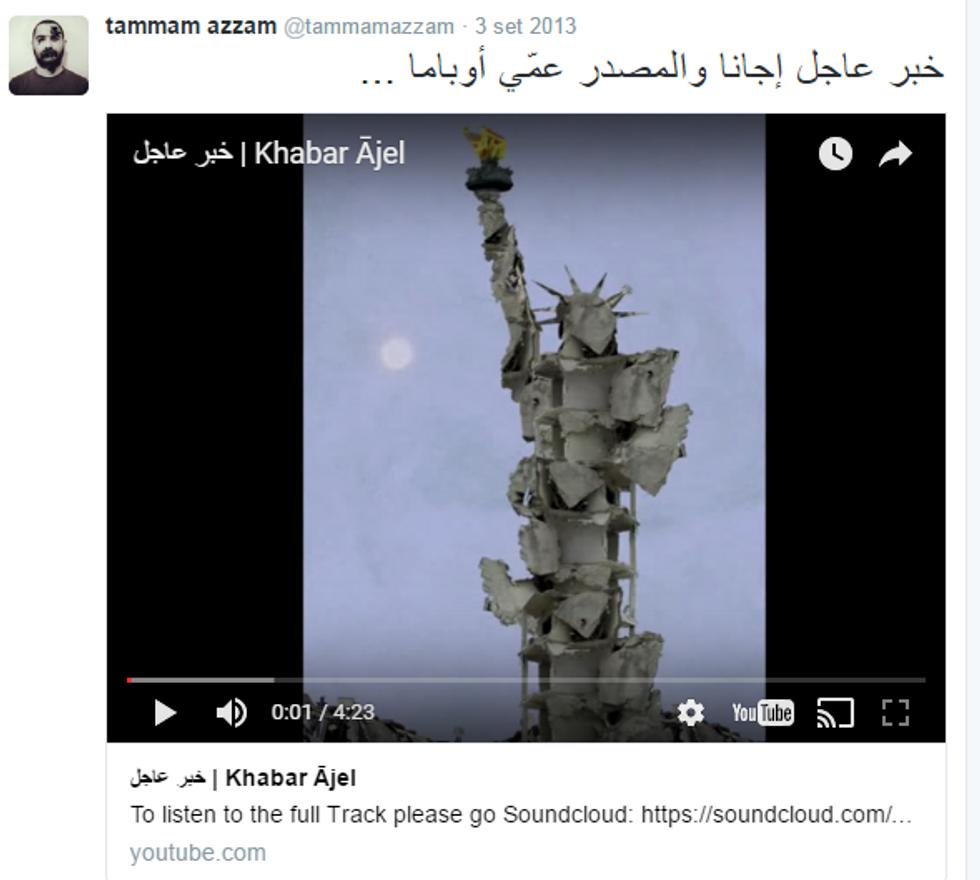 """Il """"giallo"""" della Statua della Libertà in Siria"""