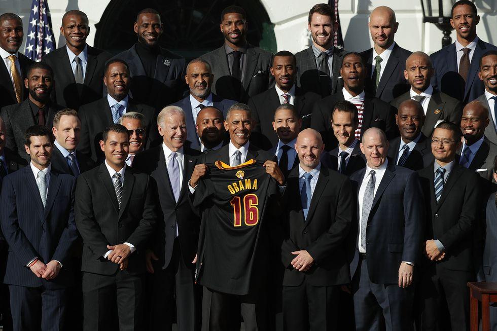 LeBron James e i Cavs in visita da Obama
