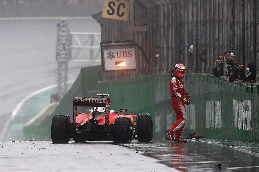 F1: il drammatico incidente di Raikkonen nel Gp del Brasile