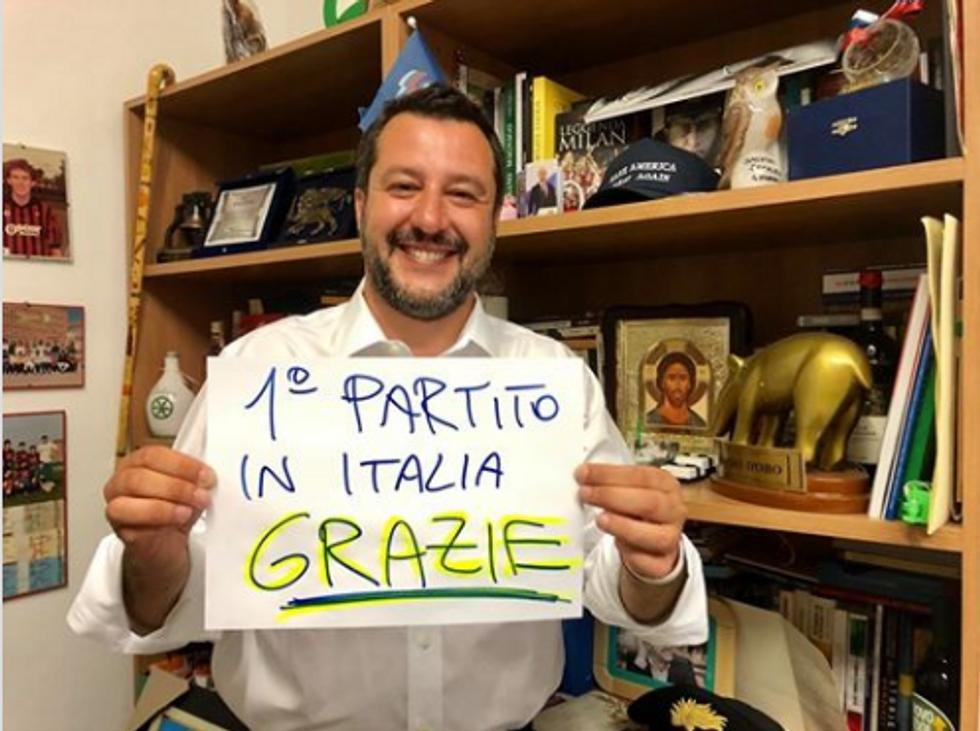 Matteo Salvini elezioni europee lega